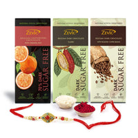 Rakhi Hamper(70% Dark Orange+ Classic+Roasted Coffee)
