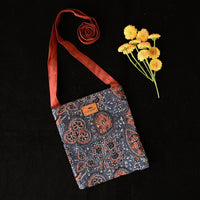 Eco-Friendly Ajrak  Buds Pattern Sling