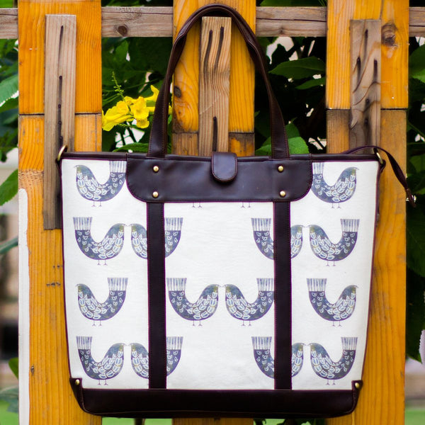 The Smoke Grey Bird Series Carryall Totes