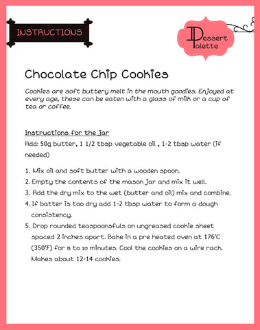 DIY Chocochip Cookie