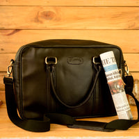 Handcrafted Night Black Workbag