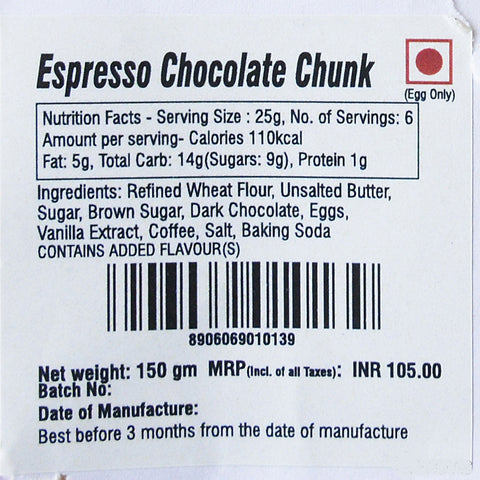 Frozen Cookie Dough - Espresso Chocolate Chunk (Pack of 2)