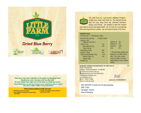 Natural Dried Blueberry
