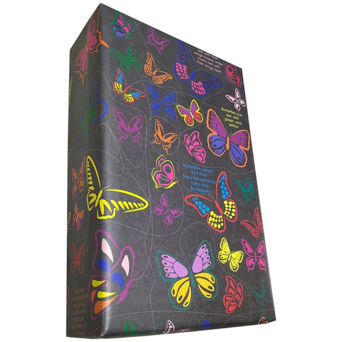 Butterfly Gift Wrapping Paper (Match The Same Butterfly Game) (Pack Of 25 Sheets)