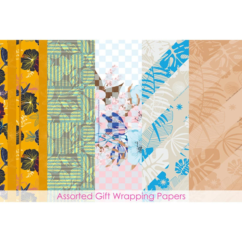 Assorted Informative Gift Wrapping Papers (5 Designs & 10 Sheets )