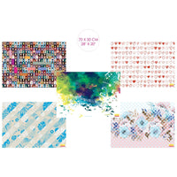 Assorted Informative Gift Wrapping Papers (5 Designs & 10 Sheets)