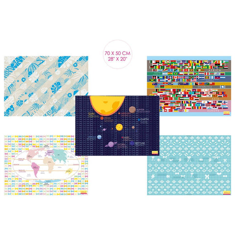 Interesting Gift Wrapping Papers (5 Designs & 10 Sheets)