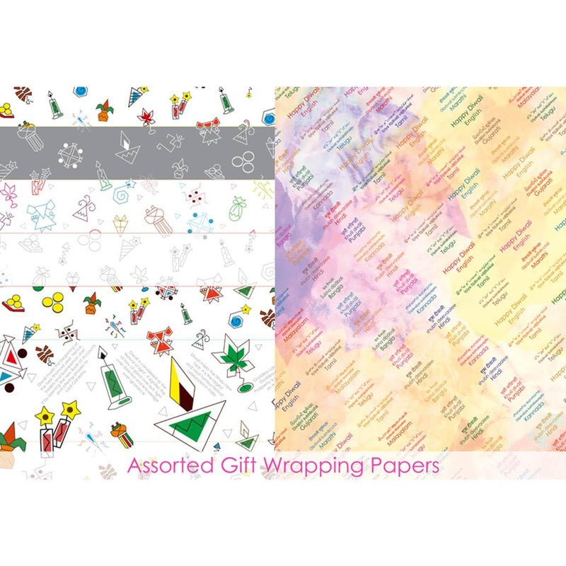 Informative Diwali Wrapping Papers (2 Designs & 10 Sheets)