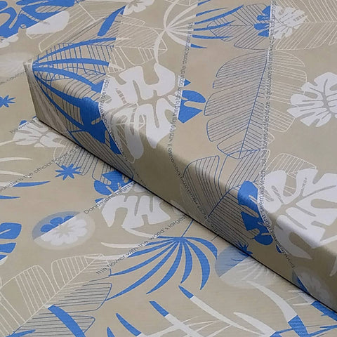eVincE pack of 10 Blue Beige Floral wrapping papers with interesting Flower facts.