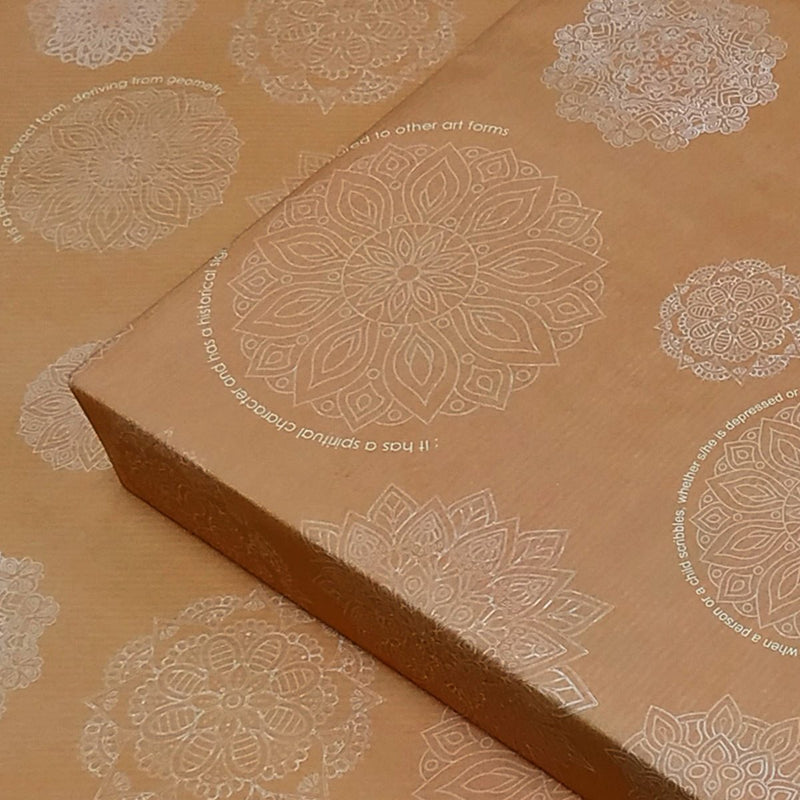 Mandala Wrapping Papers (Interesting Facts To De Stress)(Pack Of 10)