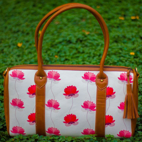 The Rani Pink Lotus Series Duffel Tote