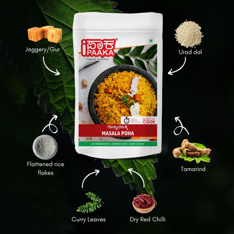 Masala Poha - Ready To Cook (Pack of 2)