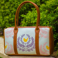 The Soft Teal Wreath Design Duffel Tote