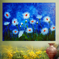 Hand Painted Textured Flower Painting
