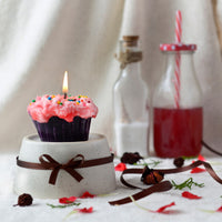 Red Velvet Cupcake Candles
