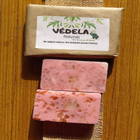 vedela naturals -Sea Salt Rose Soap (Pack of 3) | spa bath soap 75grm each