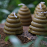 Small Skep Beeswax Candle (Pack of 2)