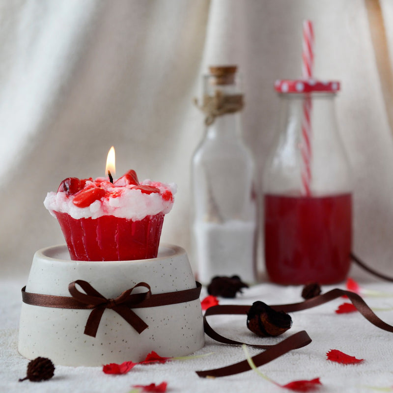 Strawberry Surprise Cupcake Candles
