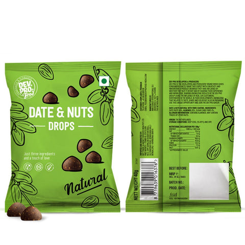 Date & Nuts Drops Natural (Fiber Coating)(Pack of 12)