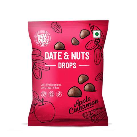 Date & Nuts Drops( Apple Cinnamon & Fibre coating ) (Pack of 12)