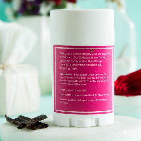 Roll-On Deodorant-All Natural Rose And Vanilla