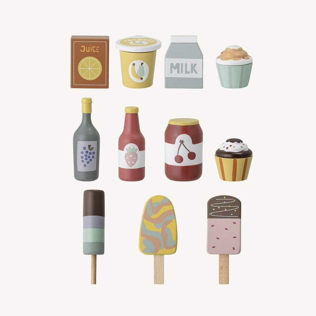 Wooden Play Food Toy Set from Bloomingville