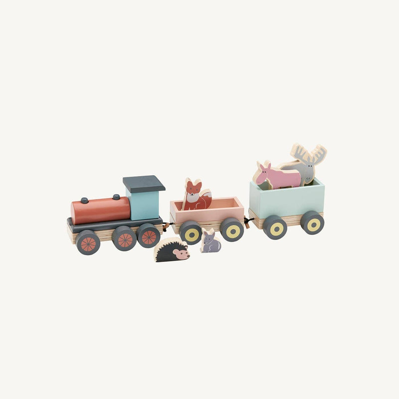 Edvin Wooden Animal Toy Train, Train, Kids Concept - All Mamas Children