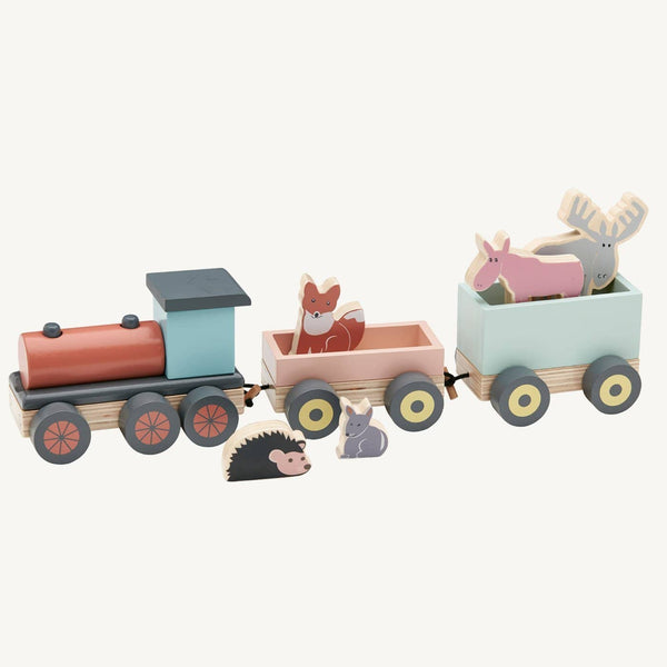 Kid's Concept - Edvin Wooden Animal Toy Train - All Mamas Children