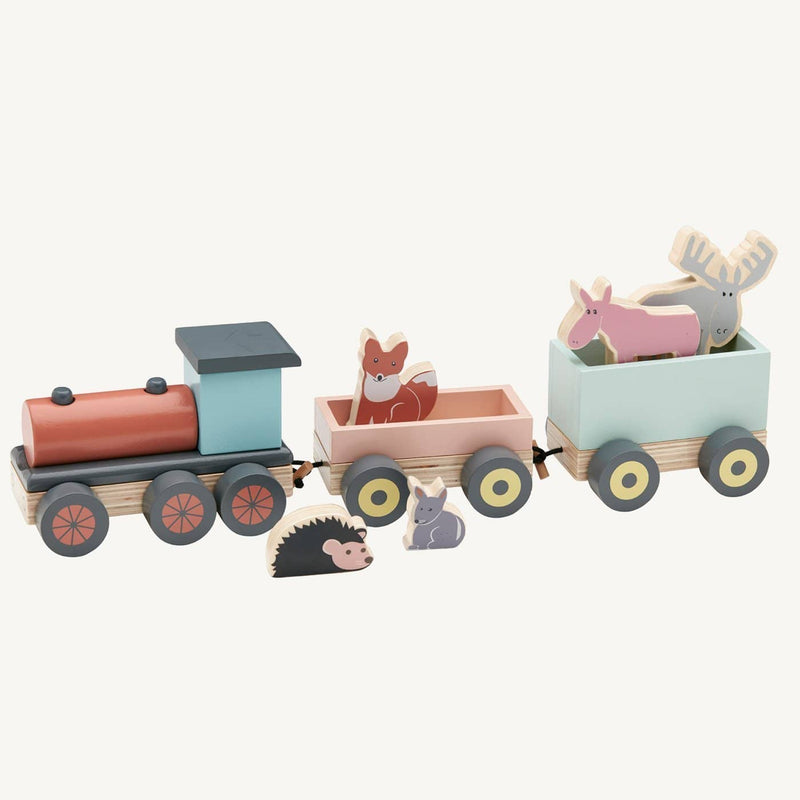 Kid's Concept - Edvin Wooden Animal Toy Train, Train, Kids Concept - All Mamas Children