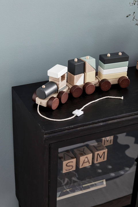 Wooden Block Toy Train, Wooden Toys, Kids Concept - All Mamas Children