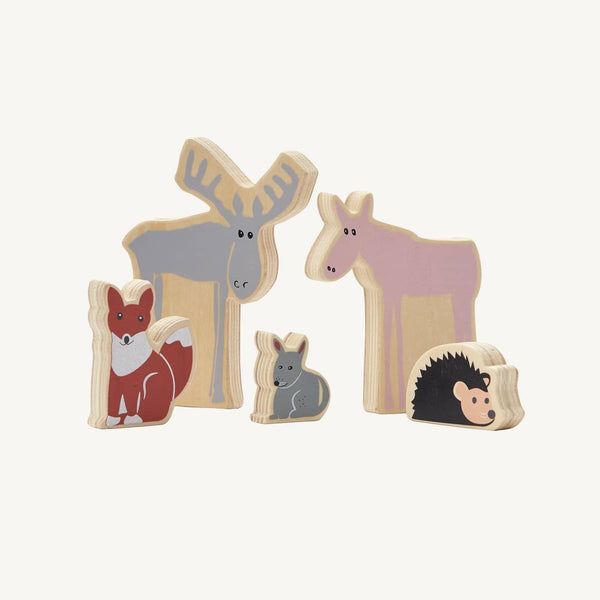 Kid's Concept - Wooden Woodland Animals Toys - Edvin, Play Set, Kids Concept - All Mamas Children
