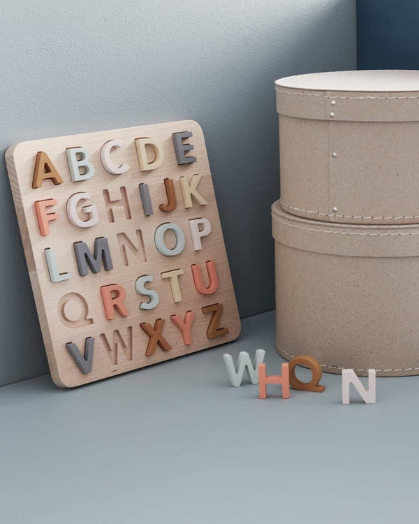 Kid's Concept - Wooden Alphabet Puzzle, Puzzle, Kids Concept - All Mamas Children