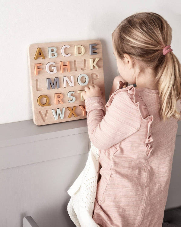 Kid's Concept - Wooden Alphabet Puzzle - All Mamas Children