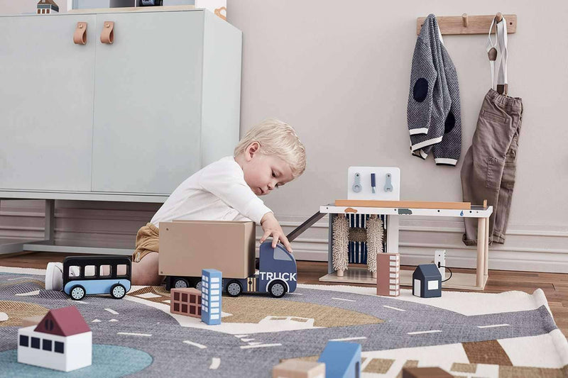 Kid's Concept - AIDEN 3 in One Wooden Toy Service Centre, Play Set, Kids Concept - All Mamas Children