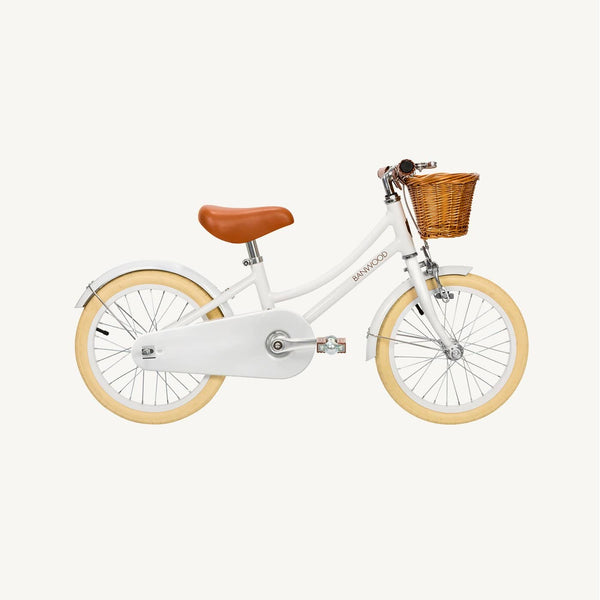 Banwood Classic Pedal Bicycle - White, Balance Bike, Banwood - All Mamas Children