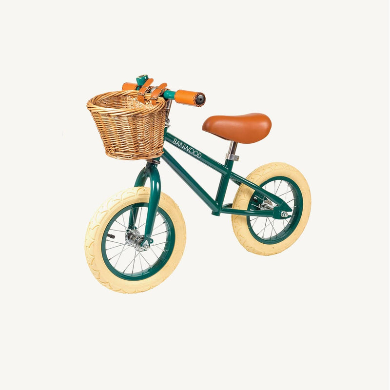 Banwood First Go Balance Bike - Dark Green, Balance Bike, Banwood - All Mamas Children