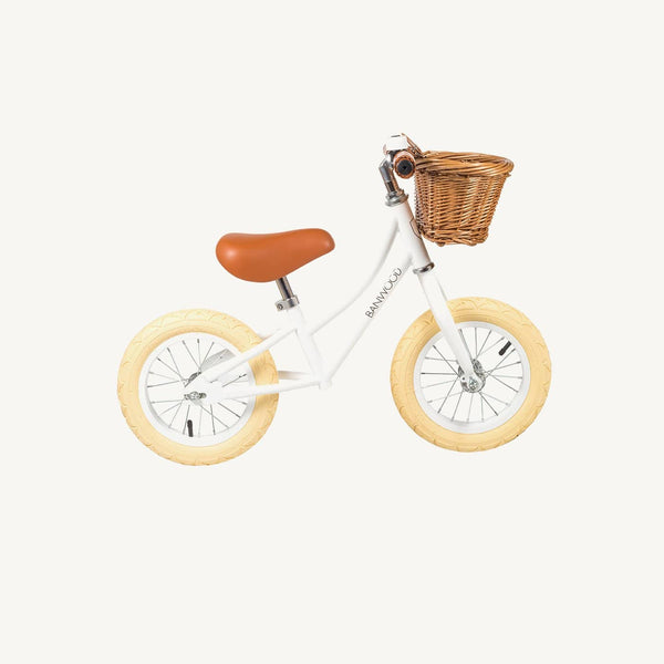 Banwood First Go Balance Bike - White, Balance Bike, Banwood - All Mamas Children