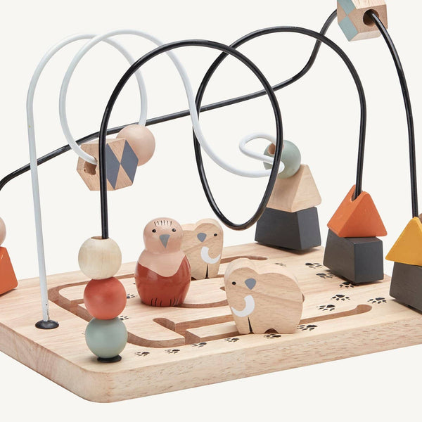 Kid's Concept - Neo Wooden Bead Maze / Frame, Bead Maze, Kids Concept - All Mamas Children