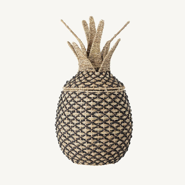 Bloomingville - Pineapple Storage Basket With Lid in Pandan - All Mamas Children