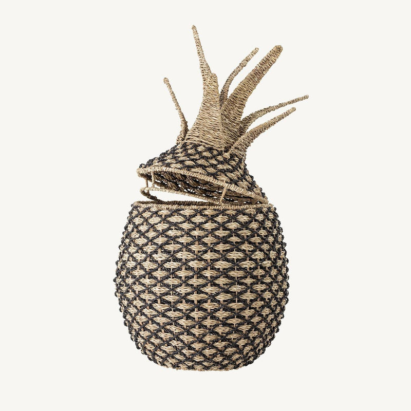 Bloomingville - Pineapple Storage Basket With Lid in Pandan, Storage Basket, Bloomingville - All Mamas Children