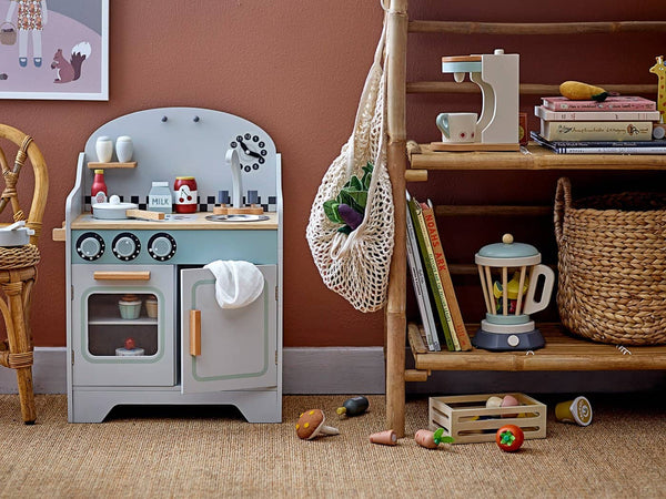 Bloomingville - 5 Piece Wooden Kitchen Play Set, Pretend Play, Bloomingville - All Mamas Children