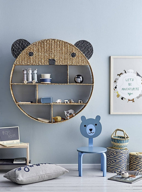 Bloomingville - Bear Bookcase in Natural Bankuan Grass - All Mamas Children