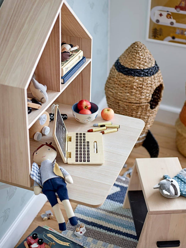 Bloomingville - Lai Wooden Wall Shelf With Desk - All Mamas Children