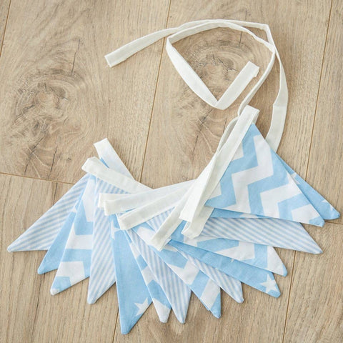 Boys Bunting - Blue / White Stars, Stripes and Chevron, Bunting, All Mama's Children - All Mamas Children