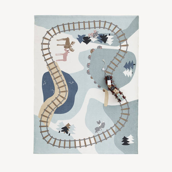 Kid's Concept - Edvin Woodland Play Mat Rug 130x170cm, Rug, Kids Concept - All Mamas Children