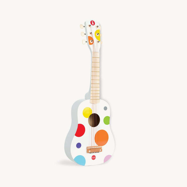 Confetti Wooden Toy Guitar in White by Janod, Toy Instruments, Janod - All Mamas Children