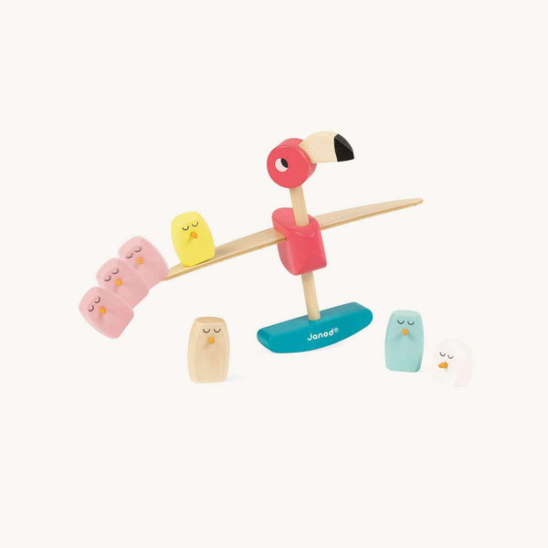 Zigolos Balancing Flamingo Game, Toys, Janod - All Mamas Children