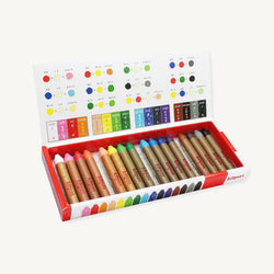 Kitpas Medium Crayons 16 Colours - For Use On Multiple Surfaces Including Windows, Mirrors, Whiteboards and Paper, Colouring Crayons, Kitpas - All Mamas Children