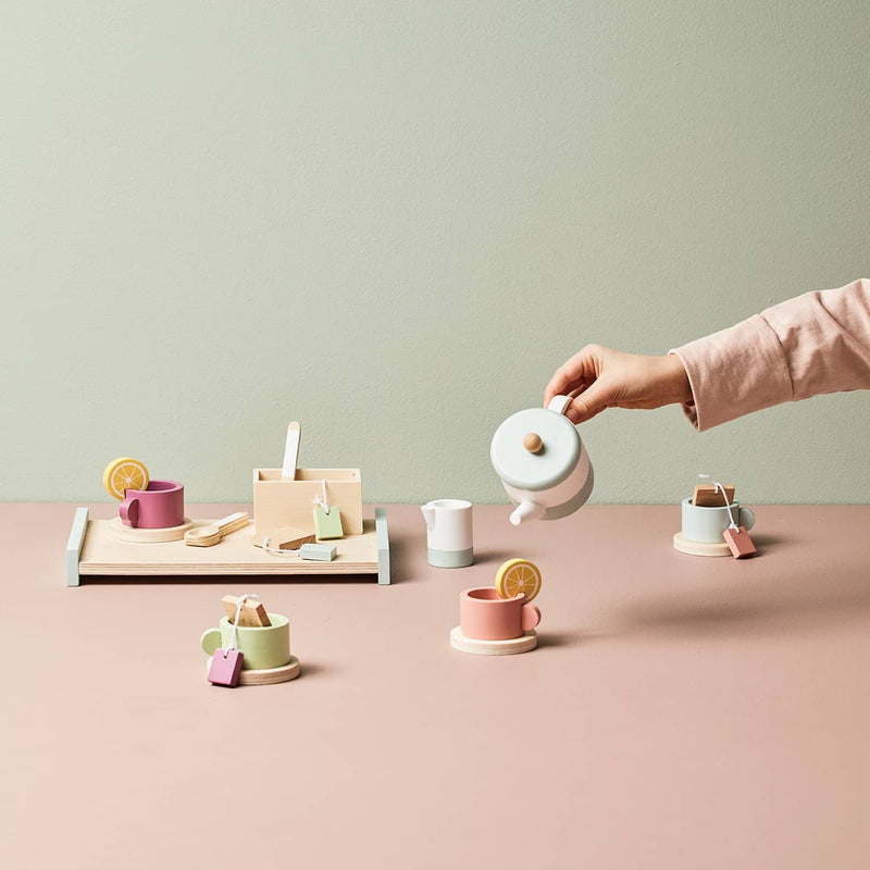 Kid's Concept - Bistro Wooden Tea Set, Kitchen Toys, Kids Concept - All Mamas Children