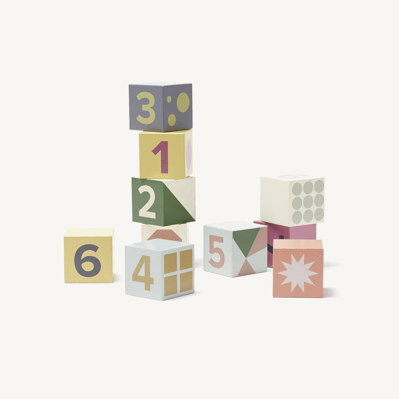 Kid's Concept - Edvin 10 Piece Wooden Blocks / Cubes, Blocks, Kids Concept - All Mamas Children